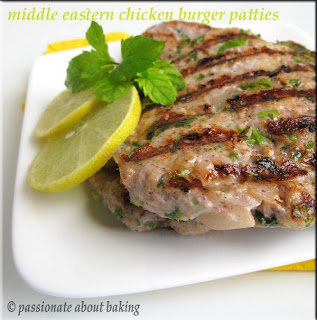 FAST BUT NOT FURIOUS   MIDDLE EASTERN CHICKEN BURGER PATTIES