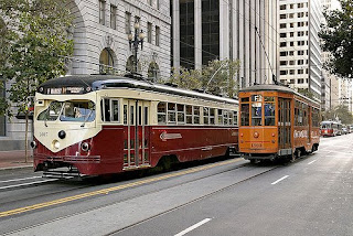 Photo of San Francisco streetcars