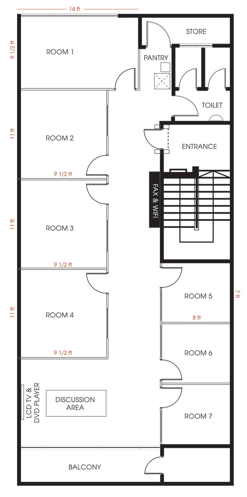 Room Design Floor Plan: GB Studio Office: Floor Plan