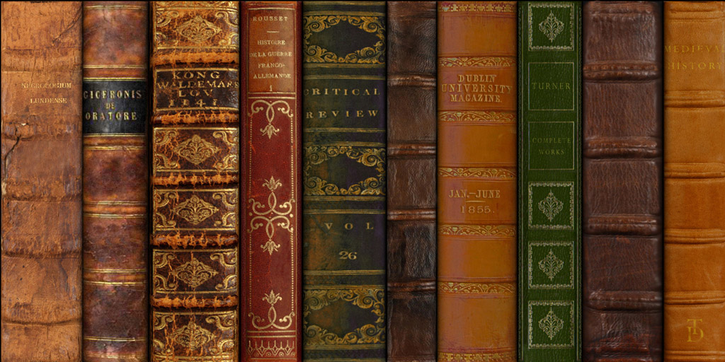 FREE TEXTURE SITE: Free Leather Book Spines Texture