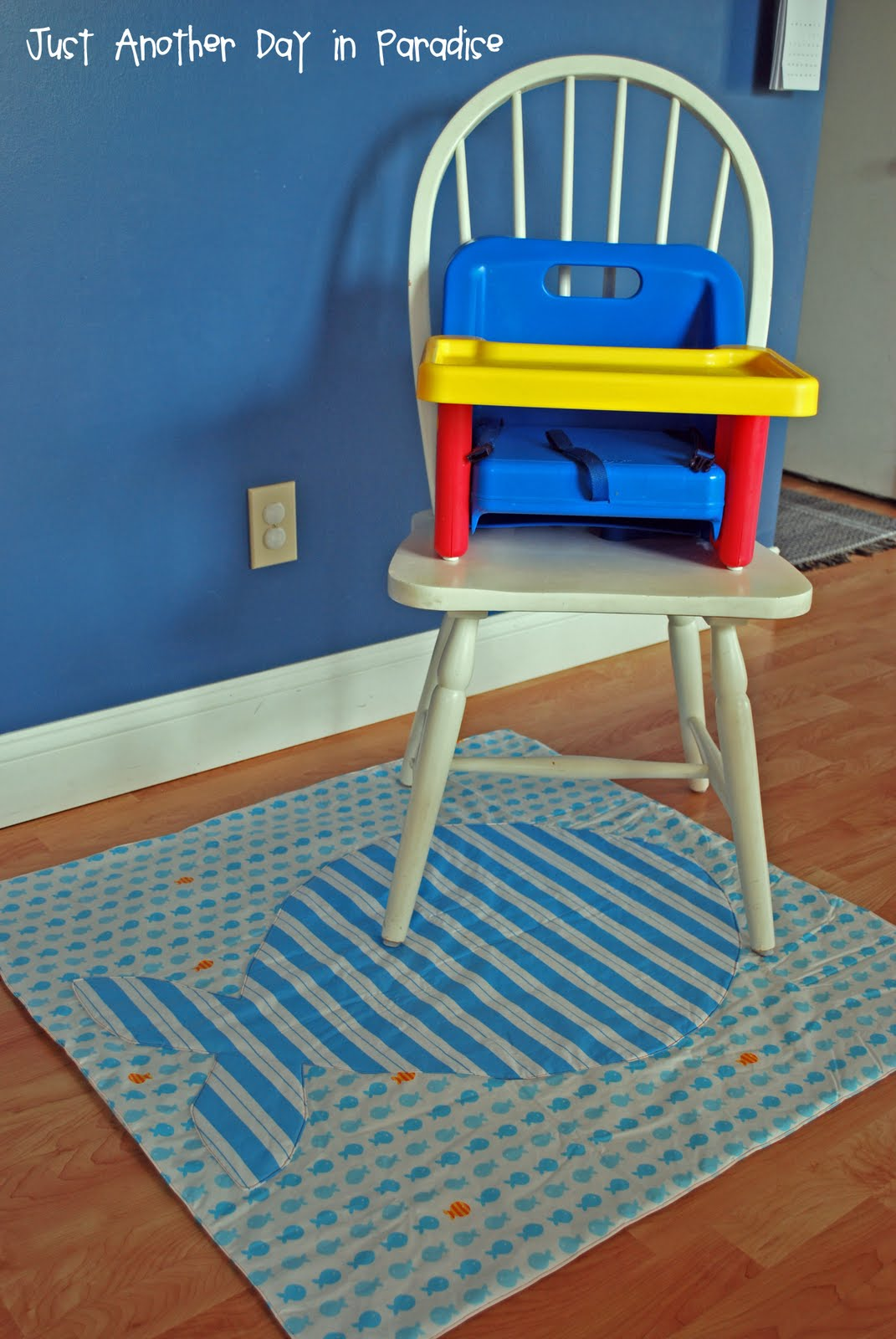 Under Chair Mat Larissa Another Day Highchair Drop Cloth How To
