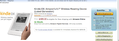 Kindle DX is Back in Stock on Its Release Date -- What's Up with That?