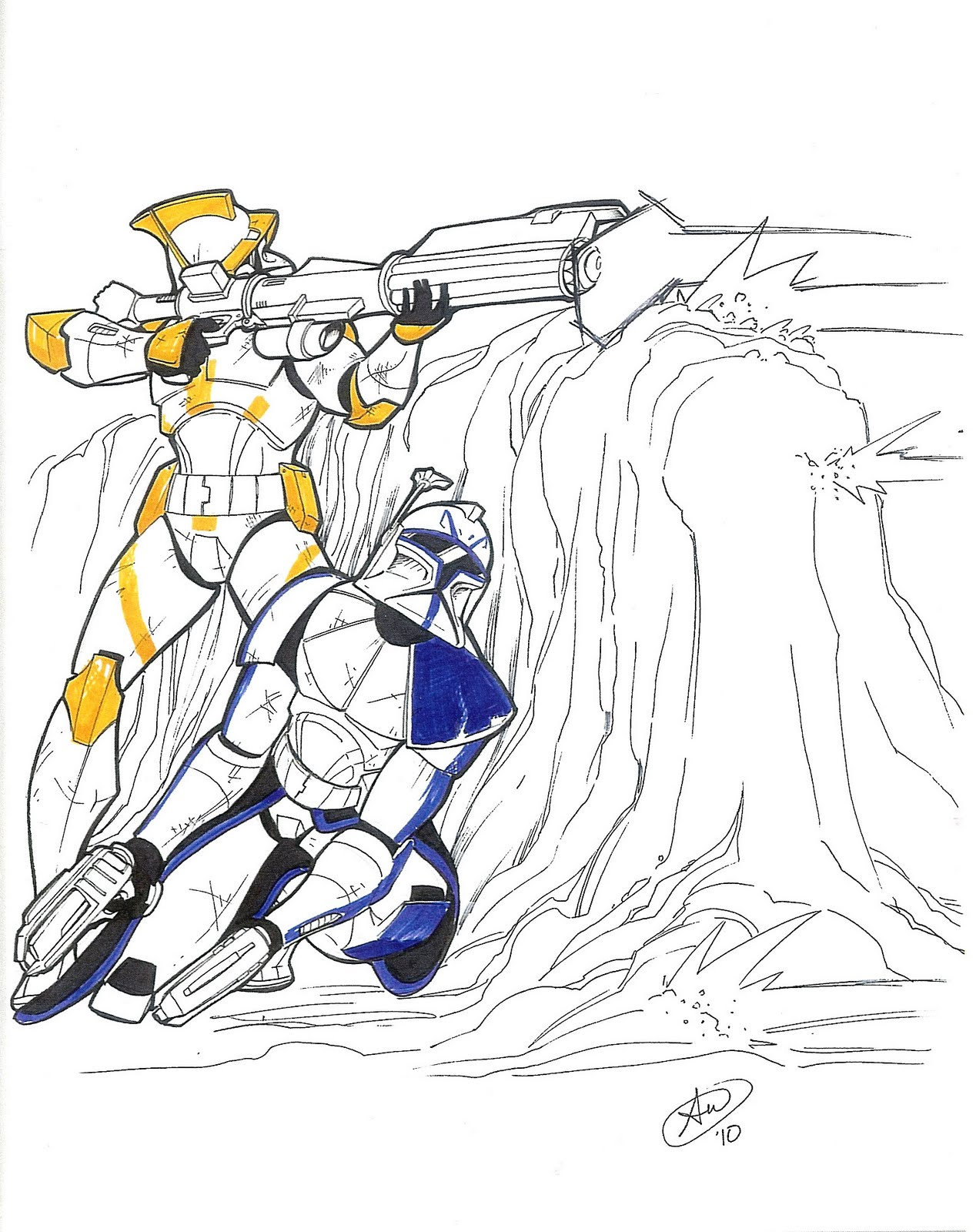 captain rex coloring page - free coloring pages of clone commanders