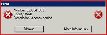 Jason Shave's blog: OCS WMI access denied 0x80041003
