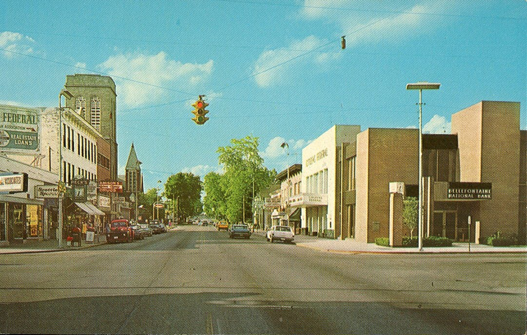 Vintage Travel Postcards Bellefontaine Ohio