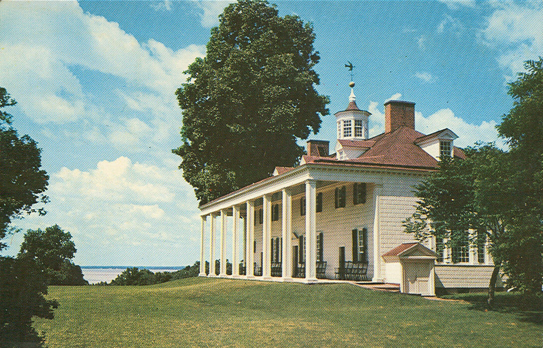 Vintage Travel Postcards Mount Vernon Virginia