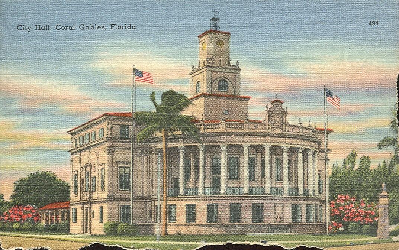 Vintage Travel Postcards Coral Gables Florida