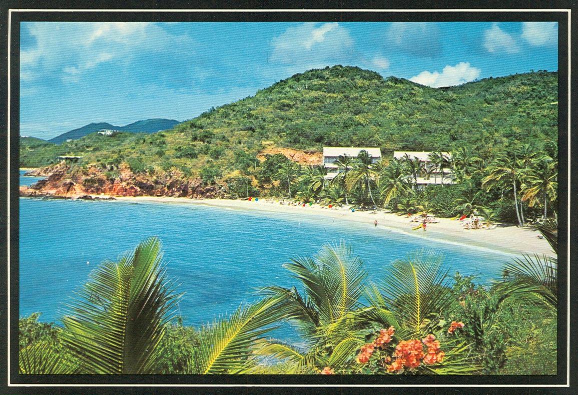 Vintage Travel Postcards Us Virgin Islands