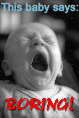 This baby says - BORING! - Image Copyright BlogSpot