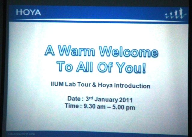 Syah's Optometry Blog: Hoya Visit Photos