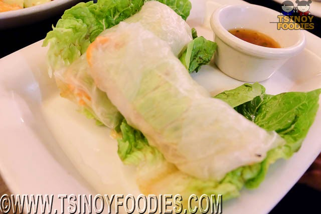vietnamese lemongrass chicken spring roll