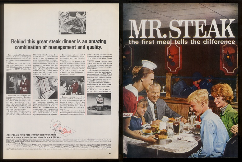 Mr Steak Franchise Publication Probably Late 60 S