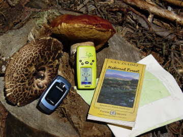 Still life with GPS unit. Photo by Chas S. Clifton, 28 August 2008