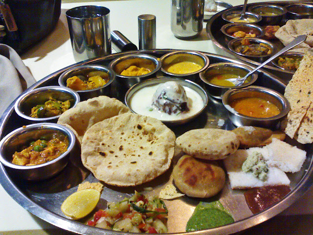 Indian thali meal