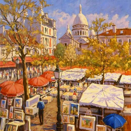 Galeria Pinturas De Arte: GALERIA-JLSUAREZ: PARIS-MONTMARTRE-PAISAJES-PINTURAS