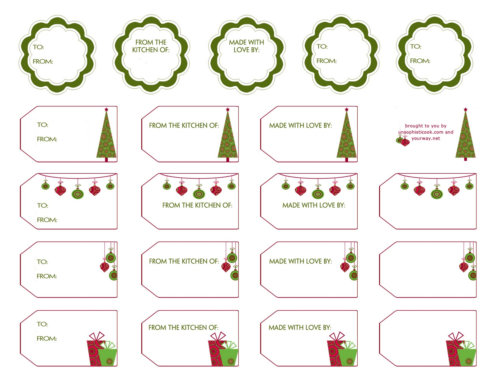 small gift tag template