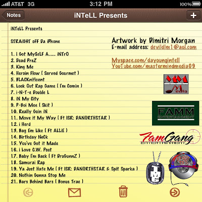 SODiphone+TracList 1 INTELL Straight Off Da Iphone Vol.1 Hosted By DJ Flatline