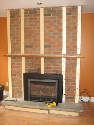 Images Of How To Drywall Over Brick Fireplace
