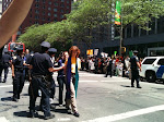 NYPD escort the Rev. Susan Karlson for civil disobedience re. comprehensive immigration reform