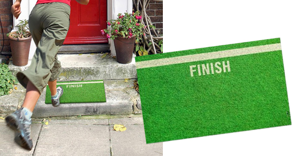 Finish line doormat