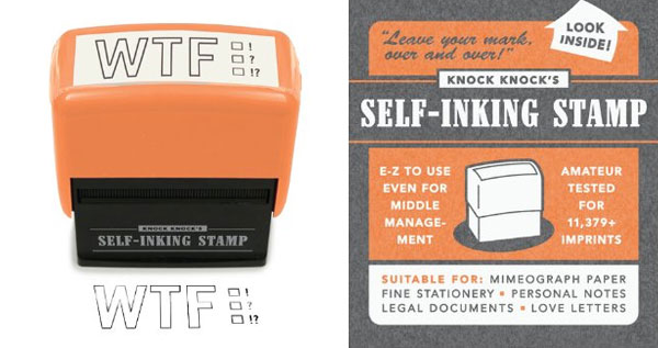 Knock Knock Self Inking WTF Stamp