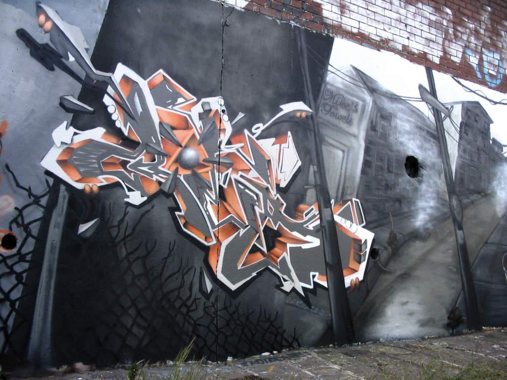 Wild Style 3D Graffiti Arrow Facebook Artwork