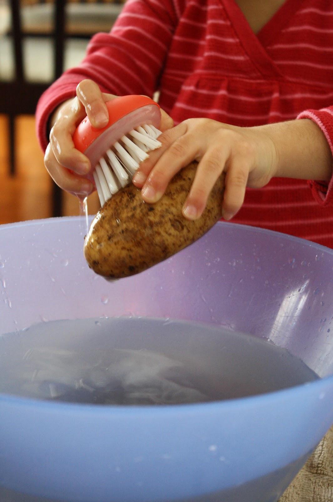How To Scrub Potatoes : scrub, potatoes, Scrubbing, Potatoes, Nurturing, Learning