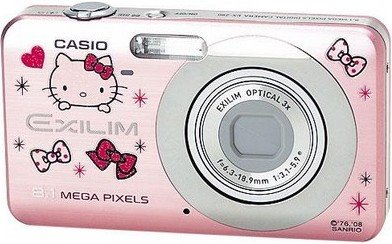 hello kitty casio ex-z80 digital camera review