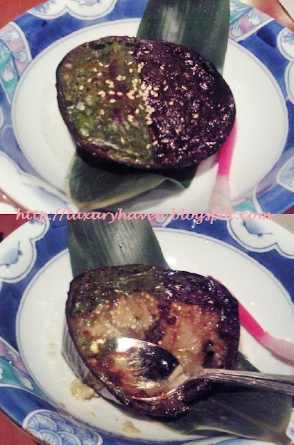 inter-con hotel ko japanese restaurant grilled miso egg-plant