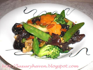 healthy vegetables with chinese herbs
