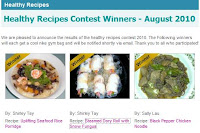health xchange healthy recipes contest home cooking