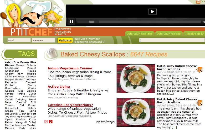 baked cheesy scallop recipe featured at petitchef