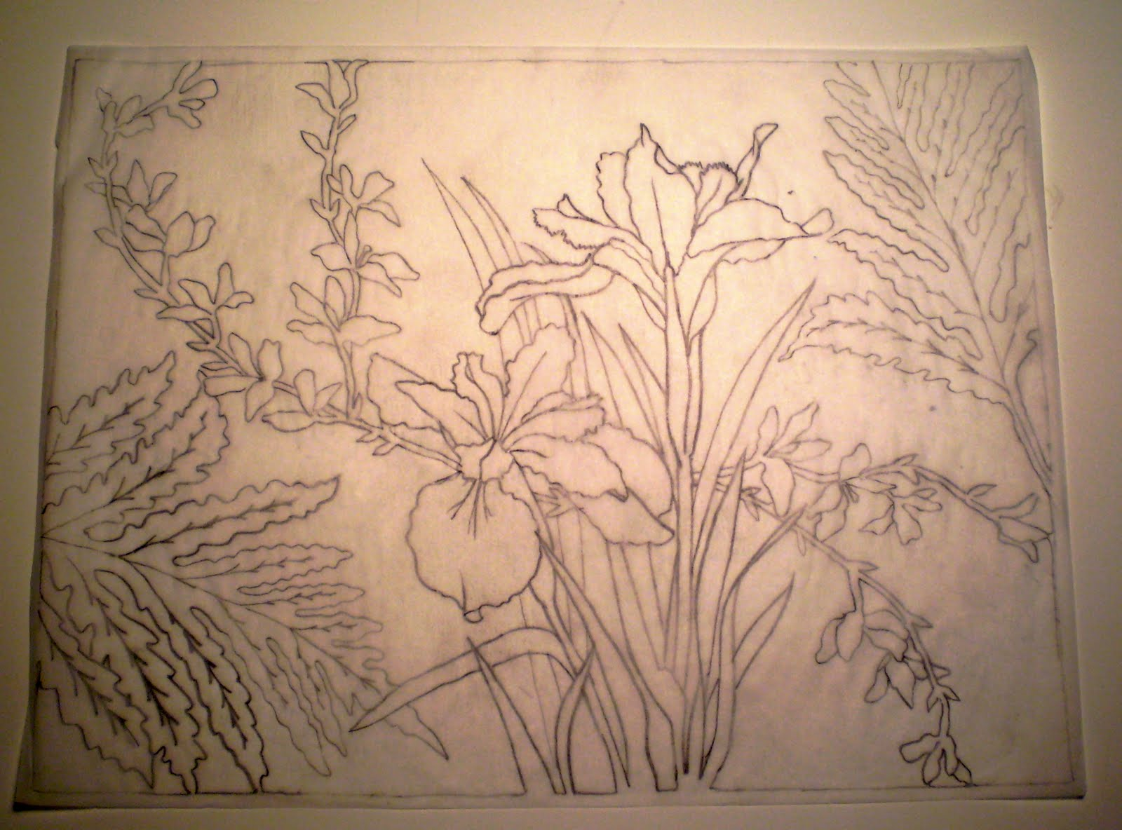 Kathleen Fiske Art In Process Soft Cut Linoleum Print