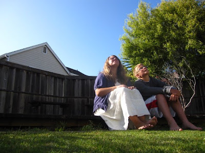 346/365 - me and graham in their backyard