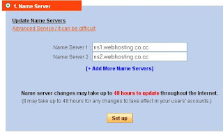 cara setting nama server