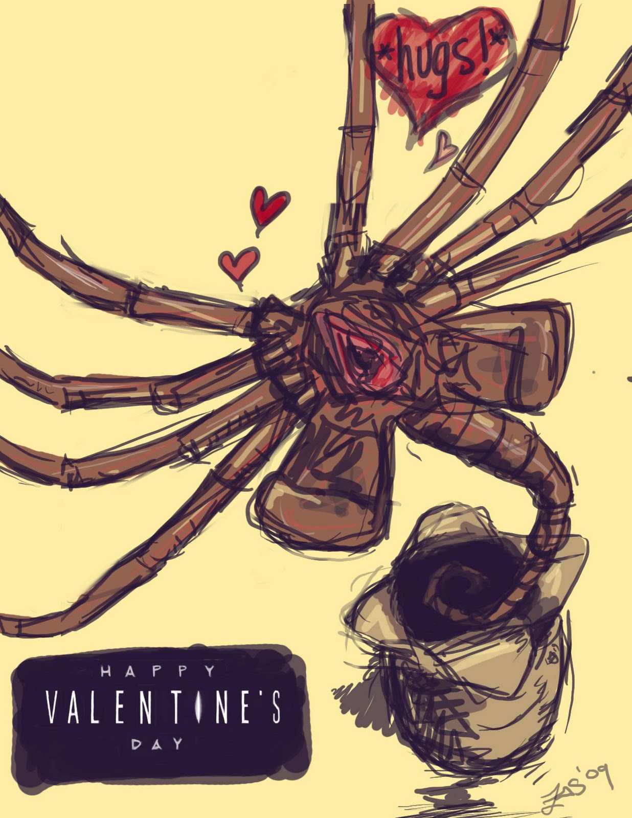 The Spooky Vegan Horror Themed Valentine Day Cards
