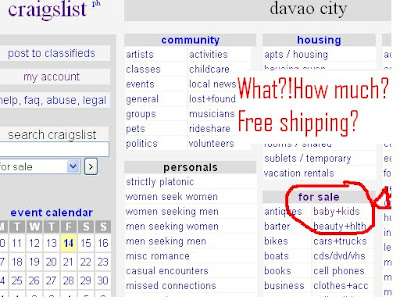 Development Catalyst: Craigslist org  is Selling/Advertising