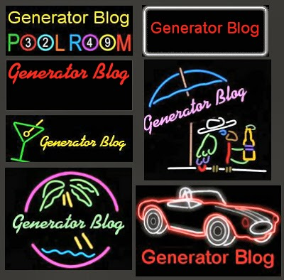 The Generator Blog: Custom Neon Sign Generator