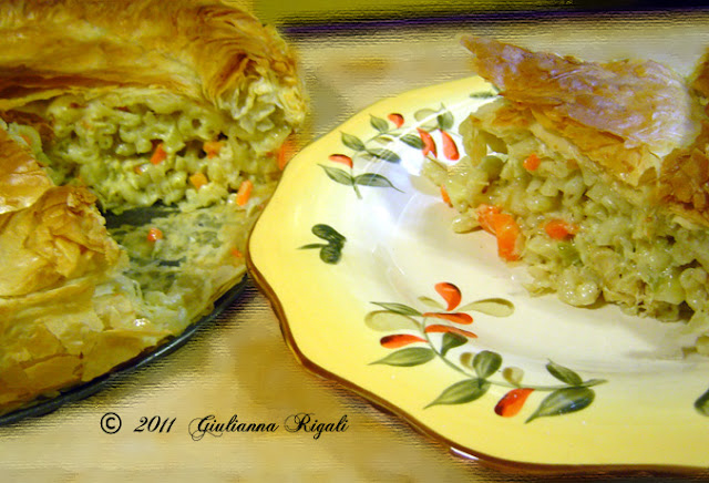 Chicken Pasta Timbale Recipe, Chicken Fusilli Timbale or Fusilli Timballi di Pollo