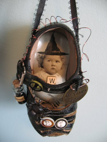 Vintiquities: Altered Vintage Baby Shoes Hmmm... & A