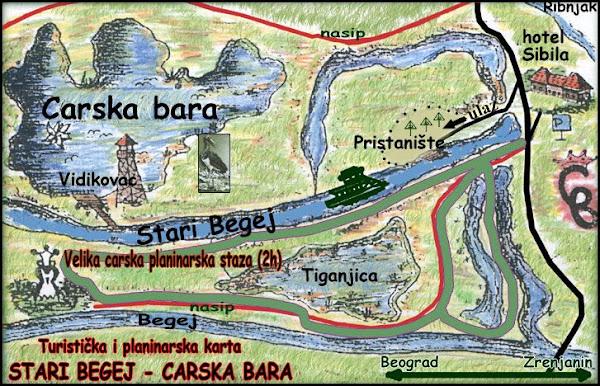carska bara mapa Putovanje carska bara mapa