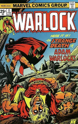 Warlock #11, Jim Starlin, the strange death of Adam Warlock, cover