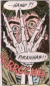 House of Secrets #127, piranhas