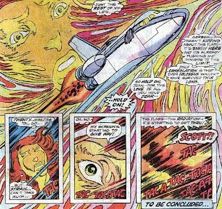 X-Men #100, Dave Cockrum, Jean Grey, space shuttle, solar flare