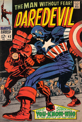 Daredevil #43, Daredevil vs Captain America