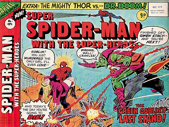 Super Spider-Man #171, the death of Gwen Stacy