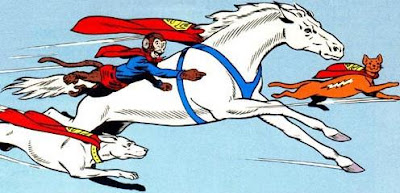 Comet, Streaky, Krypto, Beppo, the super-pets