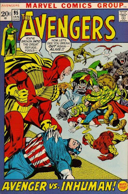 Avengers #95, Neal Adams, the Kree/Skrull War featuring Maximus the Mad, Black Bolt and the Inhumans, the Great Refuge