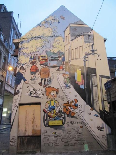 murales del comic bruselas