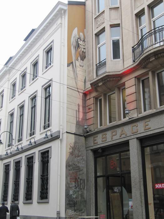 Mural Yslaire - L'Ange de Sambre